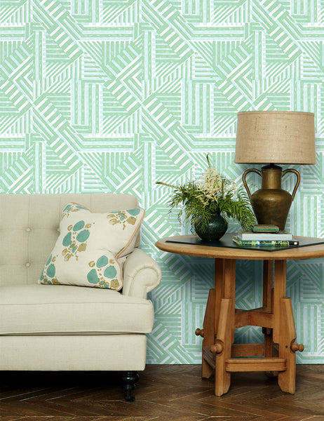 Bloc Removable Wallpaper - Aventurine - Wallshoppe