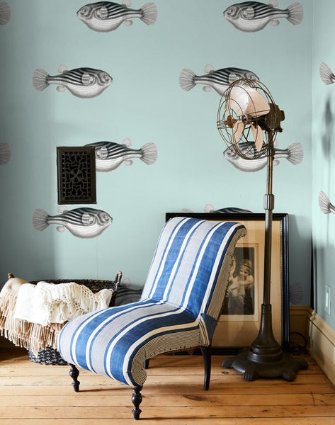 Blowfish Wallpaper - Seafoam - Wallshoppe