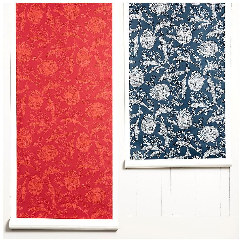 Eleanor Rigby Wallpaper - Ruby - Wallshoppe