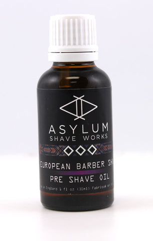 Asylum Shave Works European Barbershop Pre-Shave Oil (30ml)