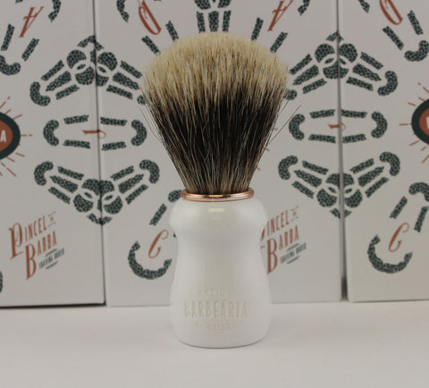 Antiga Barbearia de Bairro Finest Badger Shaving Brush (White)