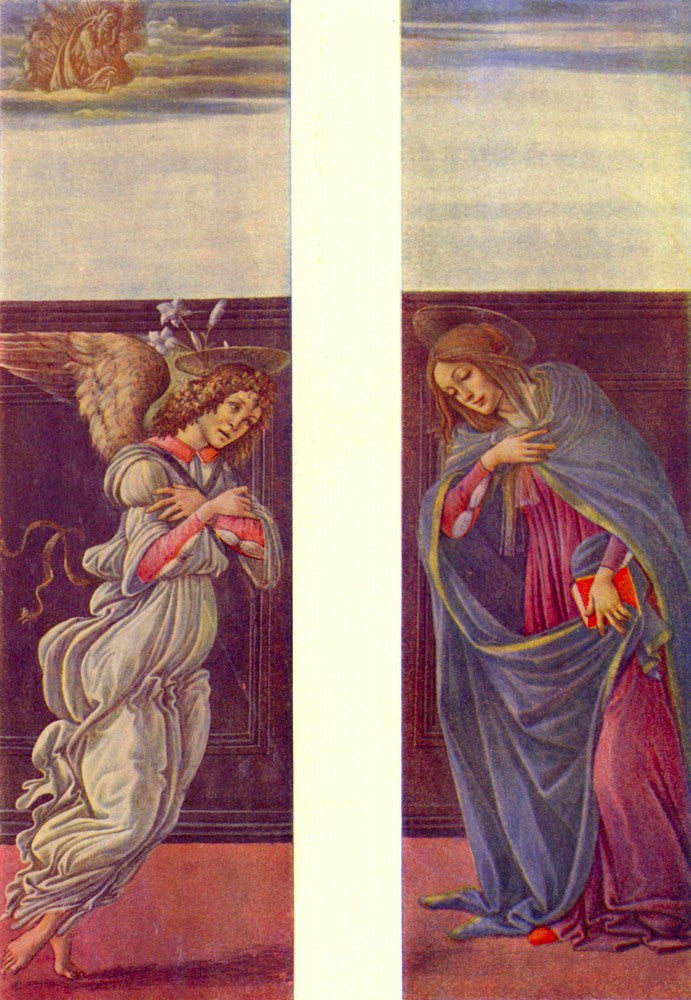 The Museum Outlet - Altar of the youngest - Annunciation by Botticelli
