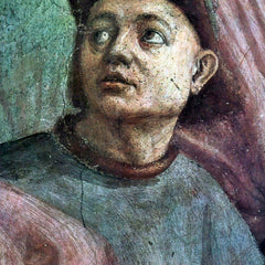 100% Hand Painted Oil on Canvas - Brancacci Chapel - awakening Theophilus' son detail by Masaccio