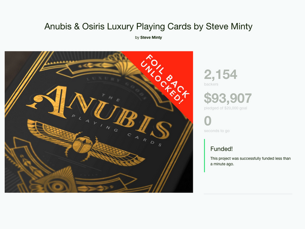 Anubis & Osiris Playing Cards Officially Funded!