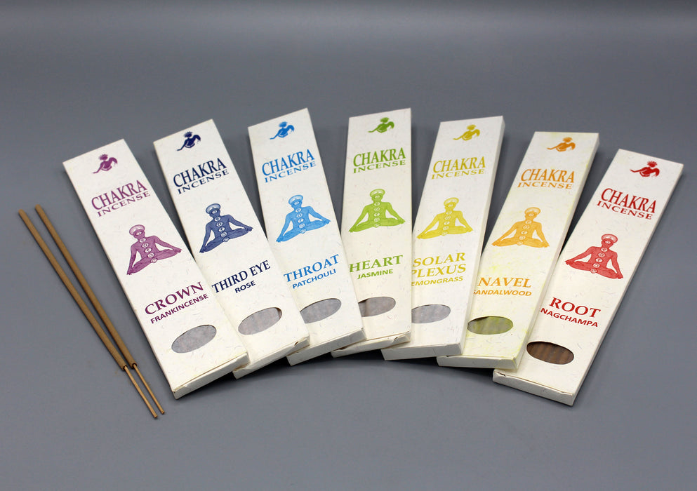 Seven Chakra Flora Incense Sticks Gift Pack - nepacrafts