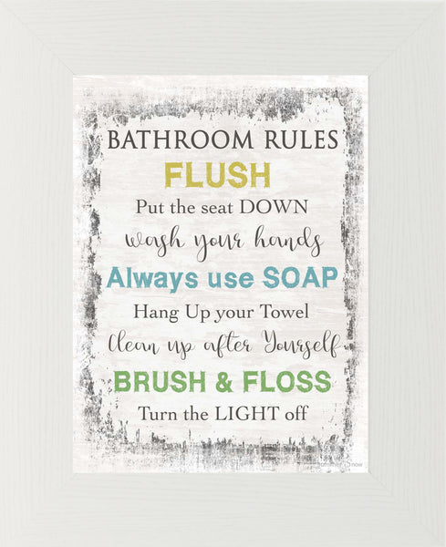 Bathroom Rules SSA033 - Summer Snow Art