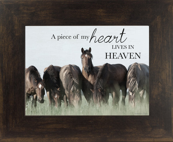 A Piece of My Heart Lives in Heaven horse SSW9838 - Summer Snow Art