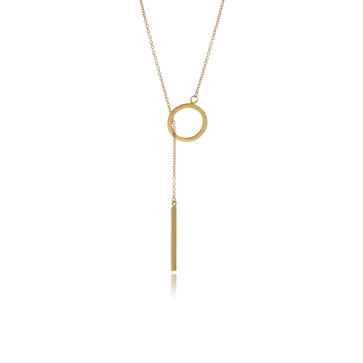 Reverie Gold Bar Chain Long Necklace - Georgina Jewelry