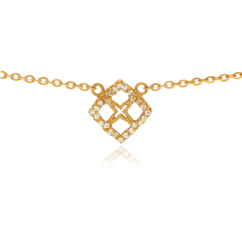 Reverie Gold Bar Chain Long Necklace