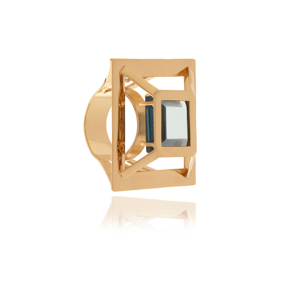 Gold Square Ring - Georgina Jewelry