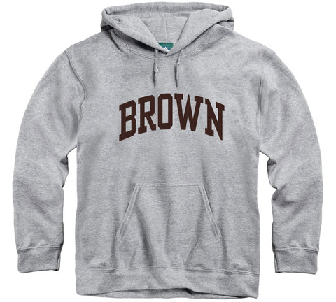 Brown Classic Hooded Sweatshirt (Heather Grey)