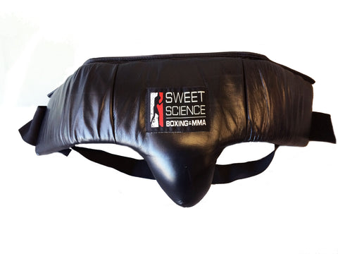 Sweet Science Boxing Groin Protector Black Leather - Sweet Science Boxing - 1