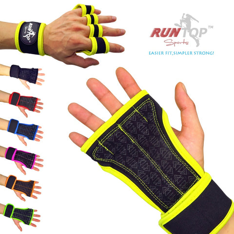 Crossfit Palm Protect Wrist Wrap Gloves