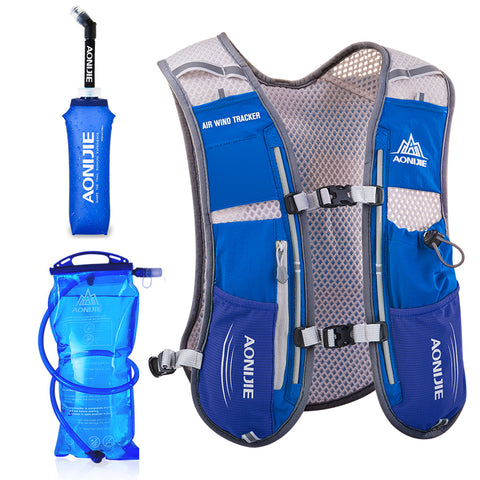 Men Women Running Backpack Outdoor Sports Trail Racing Hiking Marathon Fitness Hydration Vest Pack 1.5L Bag 500ml Kettle
