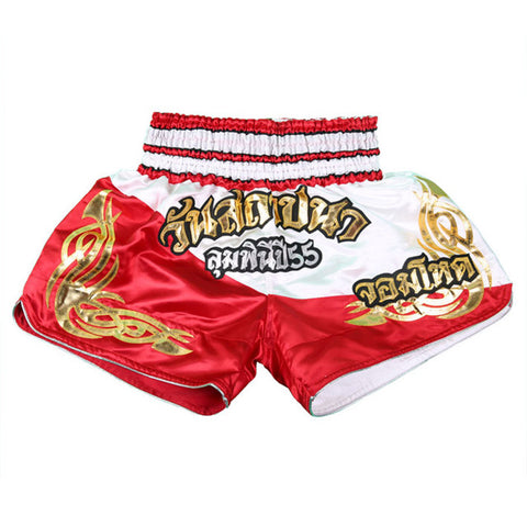 Muay Thai Kick Boxing Fight Shorts - Red