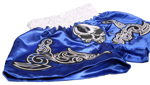 Muay Thai Kick Boxing Fight Shorts - Blue