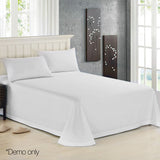 Giselle Bedding King Size 1000TC Bedsheet Set - White