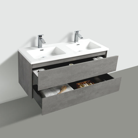 Avia 1200 Grey Ash Timber Double Bowl Vanity By indulge®