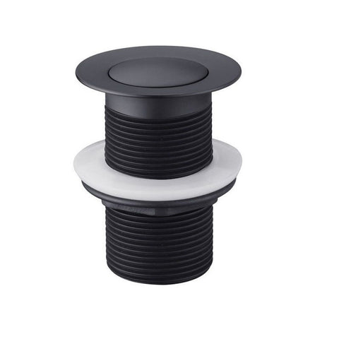32 mm Non Over Flow Matt Black Pop Up Waste