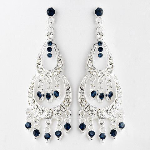 Blue, Chandelier, Earrings, Jewelry, Navy, Rhinestones, Sale, Silver