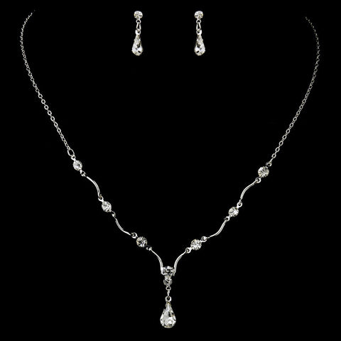 Clear, Jewelry, Jewelry Set, Silver