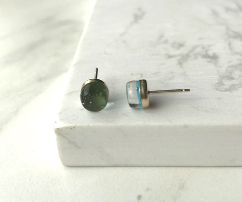 Maria Stud Earrings- Moss Green