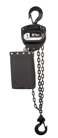 TIGER CHAIN BLOCK BCB14 IN BLACK FINISH, 1.0t CAPACITY (MODEL 220.6) WITHOUT CHAIN BAG