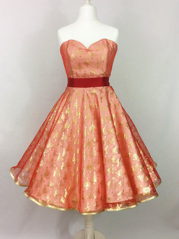 Gold and Red Christmas Tree Dress