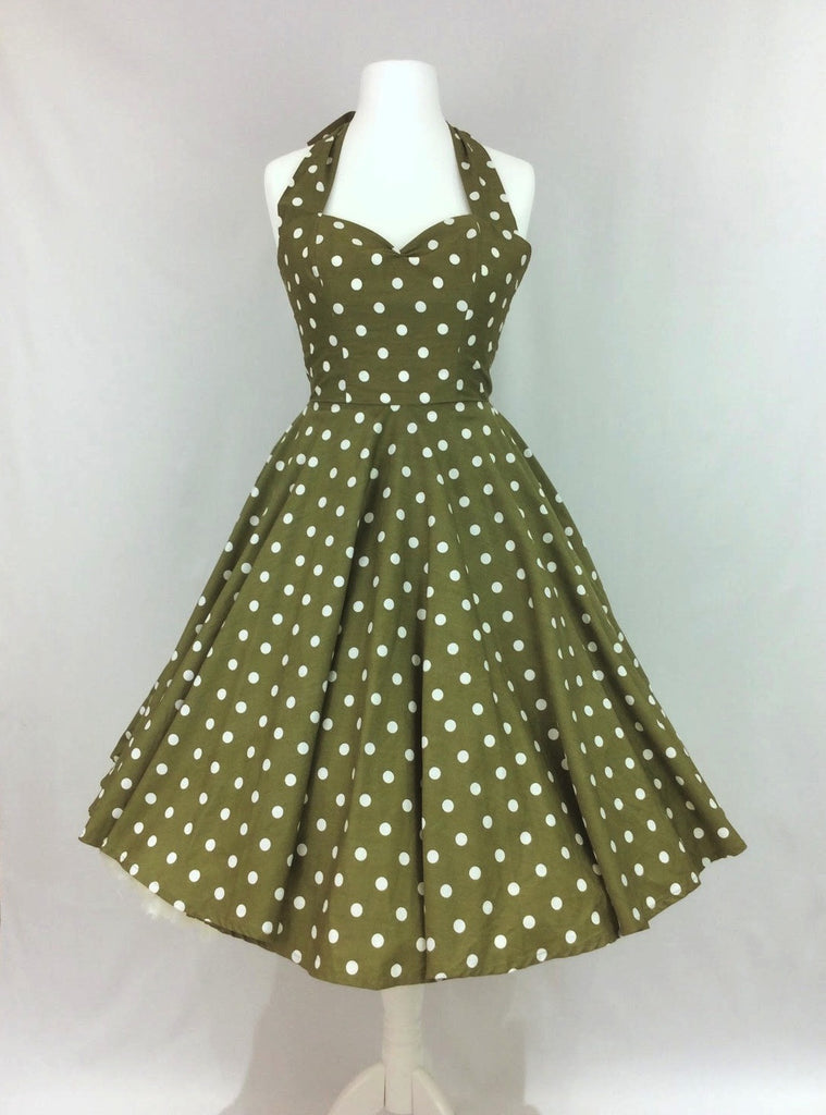 Sage Polka Dot Dress