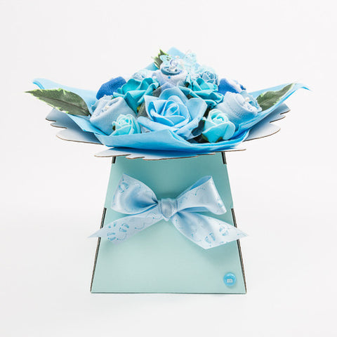 baby bouquet in blue