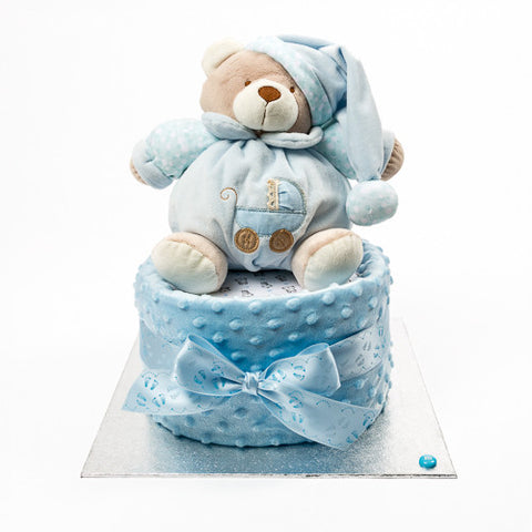 Nappy cake for a boy