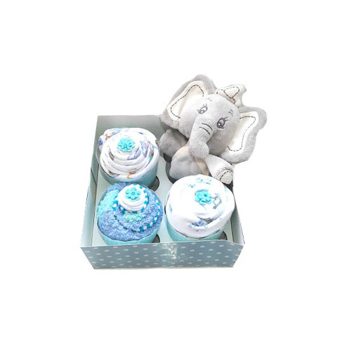 Clothing Cupcakes- Blue- Dumbo- 4 pack