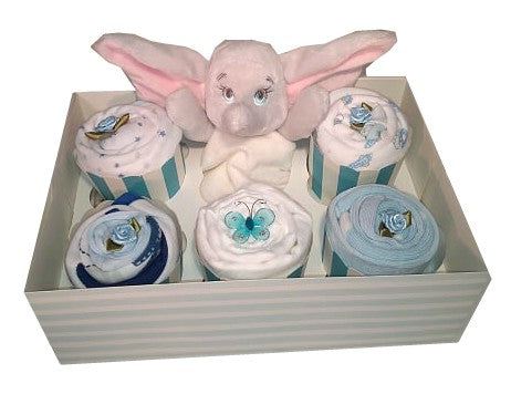 Clothing Cupcakes - Blue - Dumbo - 6 pack