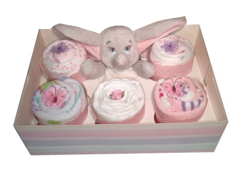 Clothing Cupcakes - Pink - Dumbo - 6 pack