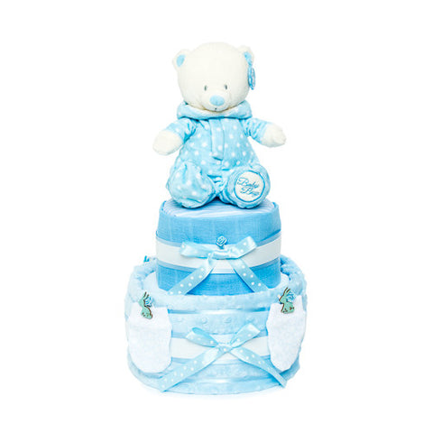 Nappy Cake-Blue-Two Tier