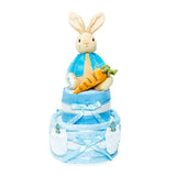 Nappy Cake-Blue-Two Tier-Peter Rabbit