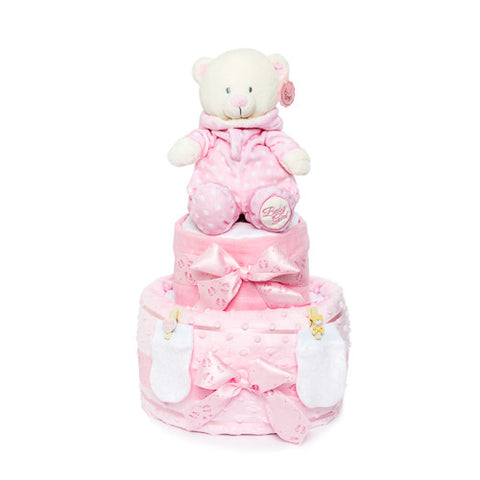 Nappy Cake-Pink-Two Tier