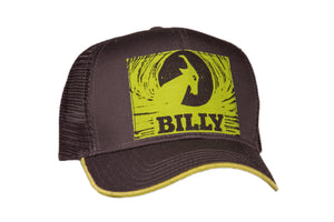 Trucker Hat - Lime on Grey, zipper, shoes, velcro, adaptive, accessible, afo, universal, kids, comfortable, BILLY Footwear