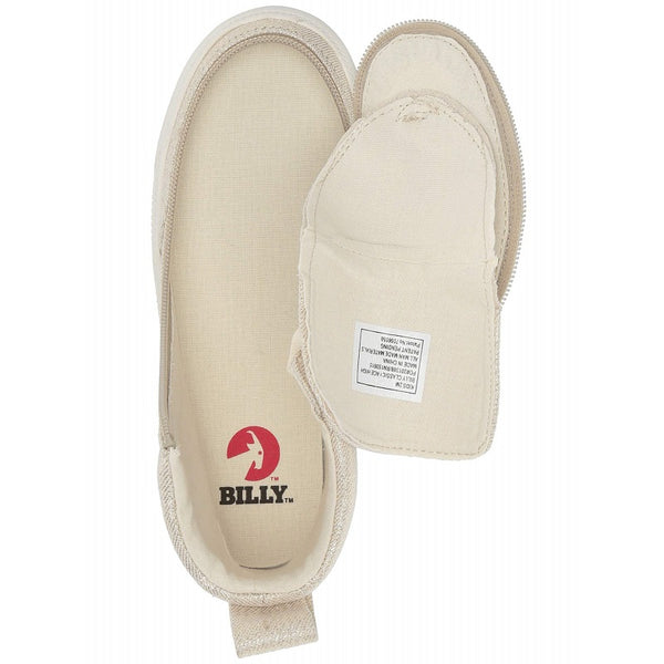 Kid's Natural Gold BILLY Classic Lace High, zipper, shoes, velcro, adaptive, accessible, afo, universal, kids, comfortable, BILLY Footwear