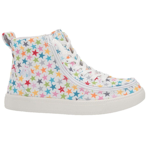 Kid's Stars BILLY Classic Lace High, zipper, shoes, velcro, adaptive, accessible, afo, universal, kids, comfortable, BILLY Footwear