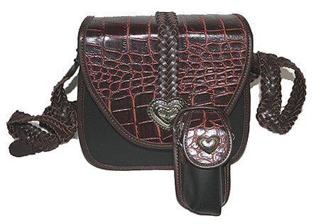 Fashion | Handbag Purse With Shoulder Strap  Medallion Silver Heart