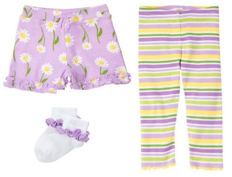 Baby Clothes | Gymboree 3 Piece Lavender Daisy Set Size 6-12 Months