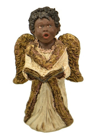Figurines | Collectibles Black Angel Child with Hymn Book Figurine