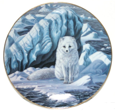 Collector Plates | Artic Fox Collector Plate Terry McLean Winter Vigil