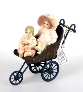 Figurines | Jan Hagara May and Joseph's Cart Buggy Porcelain Figurine