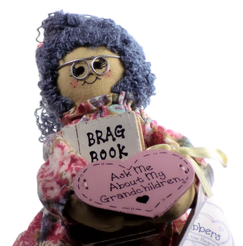"Enesco | Li'l Gabbers Rag Doll ""Ask Me About My Grand Children"""