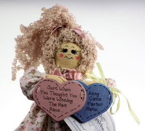 "Enesco | Li'l Gabbers Rag Doll ""Rat Race"""
