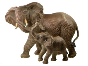 Figurines | Maruri Mother and Baby Elephants