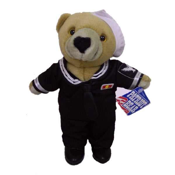 Plush | Navy Sailor Teddy Bear Black Dress Blue Uniform