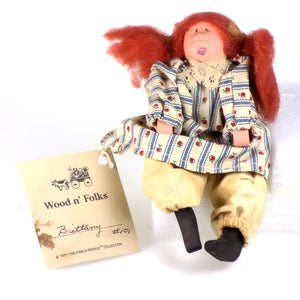 Collectibles | Wood Folk Art Figures Brittney